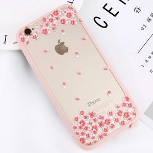 SILICONE LUXURIOUS FLOWER IPHONE 7 8 PLUS CASE